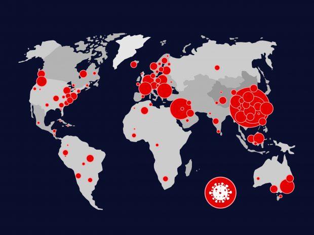 Example of a coronavirus map.