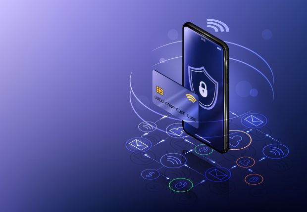 digital banking elements on a smartphone