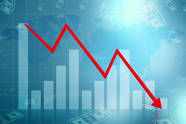 economic losses shown on a line graph