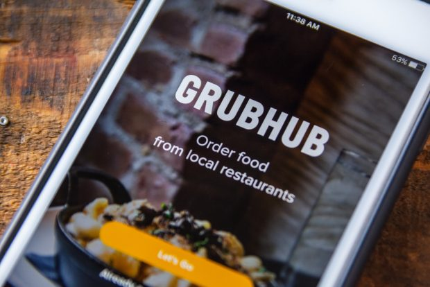 GrubHub app.