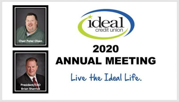 Slide showing Ideal Credit Union executives