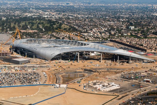 Future home of the Los Angeles Rams and Chargers in Inglewood, Calif.