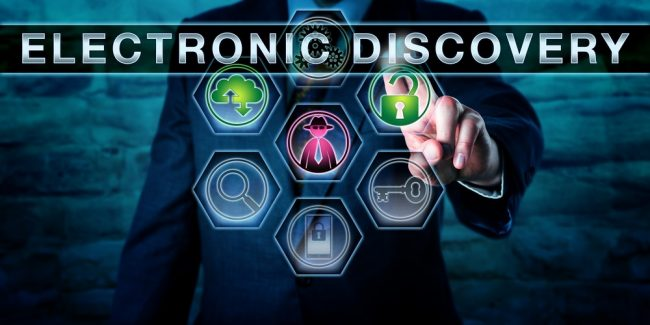 electronic discovery icon screen