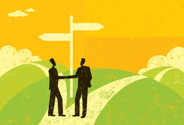 business partners decide to go their separate ways