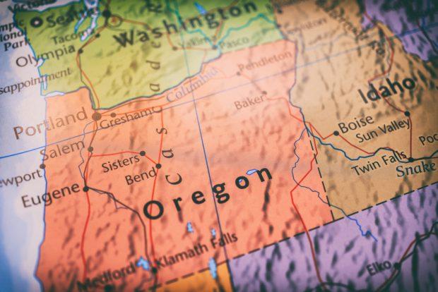 The Oregon-Idaho border