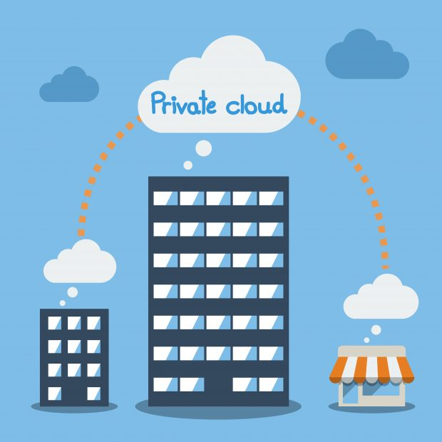Using a private cloud to serve the business and consumers.