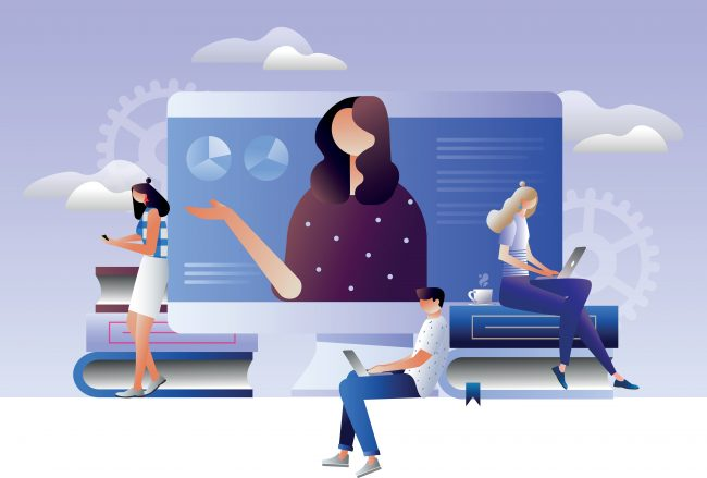 Virtual event illustration