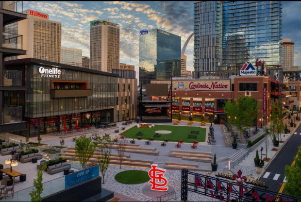 Together Credit Union Plaza at Ballpark Village in St. Louis.
