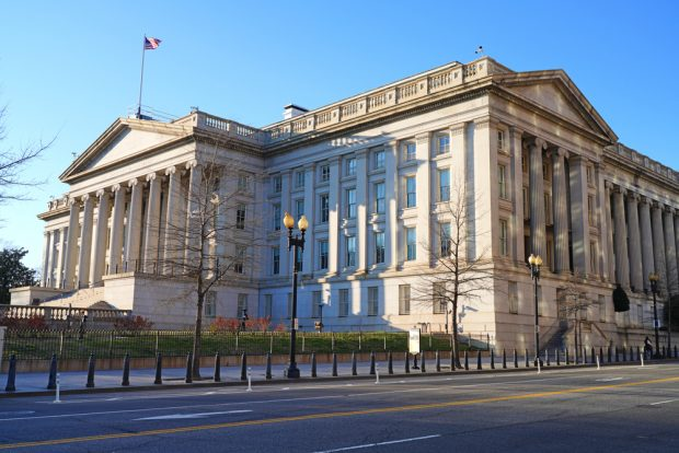 U.S. Department of Treasury building in Washington, D.C.