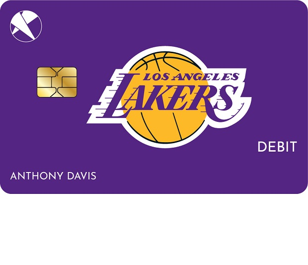 Design of the First Entertainment CU/Lakers debit card.
