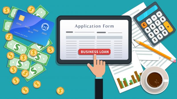 applying for a small business loan on an iPad