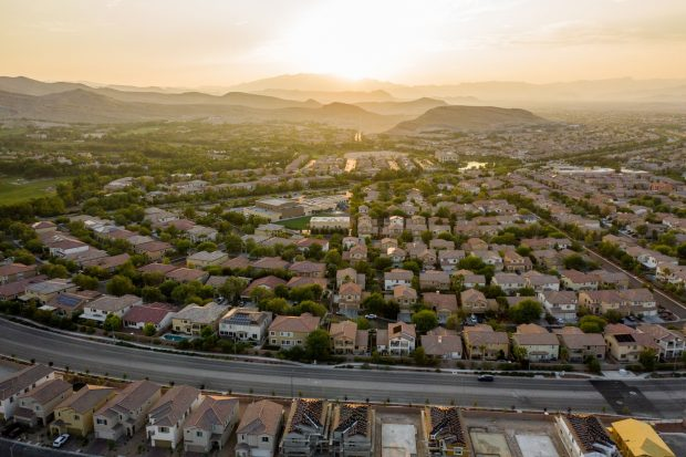 Homes in the Southern Highlands master-planned community are seen in this aerial photograph taken over Las Vegas, Nevada, U.S., on Thursday, Sept. 17, 2020. Photographer: Roger Kisby/Bloomberg