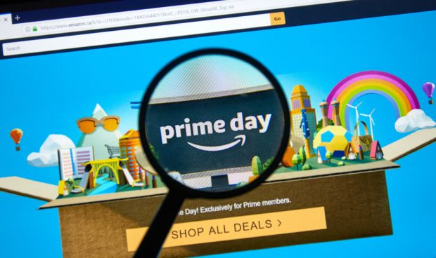 Amazon Prime Day website home page