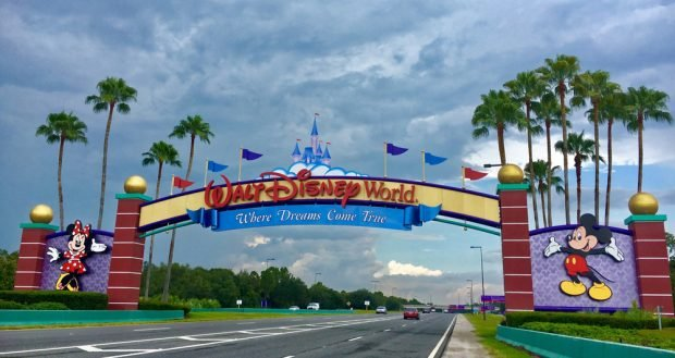 Entrance to Walt Disney World near Orlando, Fla.