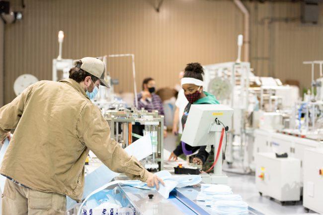 Workers at Vidalia Mills in Vidalia, La.