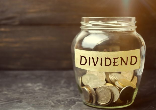 Dividend payments in a jar.