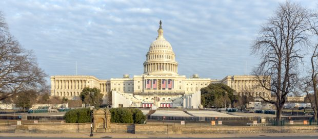 U.S. Capitol Building prepared for Inauguration Day in 2017