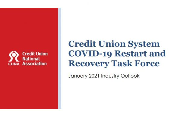 COVID-19 Restart and Recovery Task Force front page of the January 2021 report.