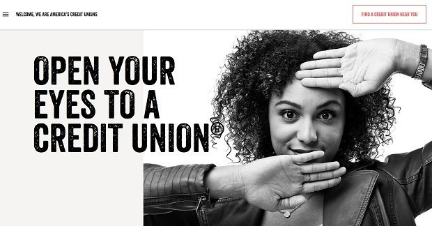 Screenshot of CUNA's Open Your Eyes campaign.