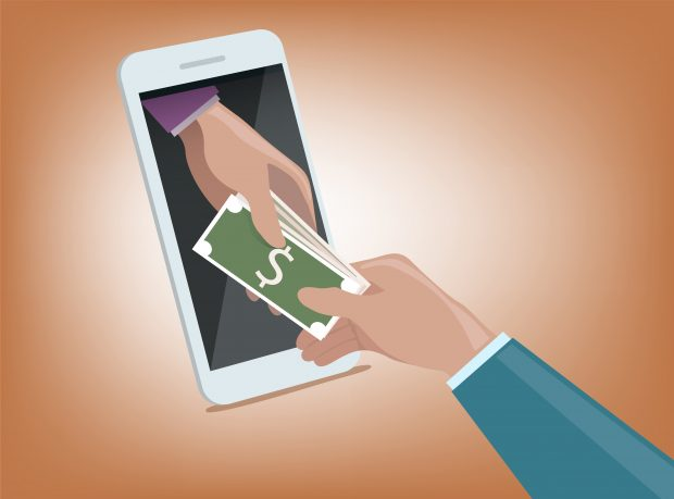 digital lending solutions through a mobile phone