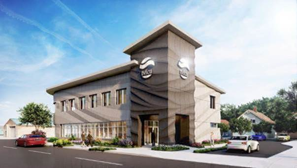 Rendering of the new Valley Federal Credit Union branch in Chattanooga, Tenn.