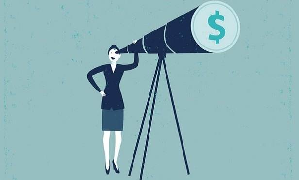 A telescope with a dollar sign on it (Image: Shutterstock)