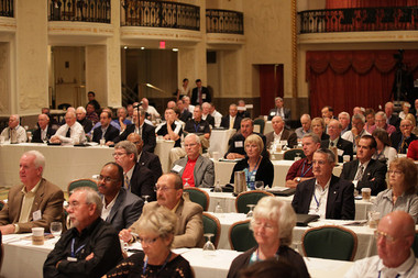 Attendees listen to day three speakers at the 2012 NAFCU Congressional Caucus.