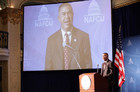 Rep. WIlliam Lacy Clay at the recent NAFCU Congressional Caucus.