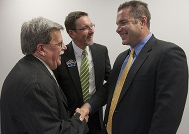 The $1 billion Dupaco Community Credit Union of Cedar Rapids, Iowa, threw a get-to-know-you meeting Oct. 26, and the guest of honor was 1st District U.S. Congressman Bruce Braley.