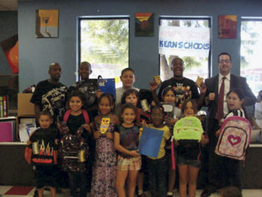 Children at the Boys and Girls Club celebrated with the school supplies  donated by Kern Schools FCU.