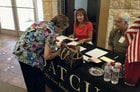 Voter registration took place at several of DATCU's branches in Texas.