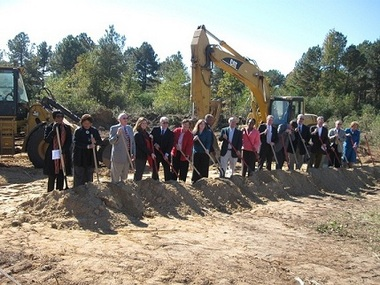 Ground is broken for a 24-unit SECU Foundation-financed apartment project for teachers in Hoke County in south-central North Carolina.