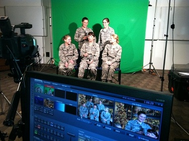 During Operation Best Wishes, these five officers from Kirtland Air Force Base made a funny video to send to two USAF members deployed to Afghanistan.