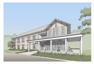 Here is an artist's rendering of the SECU Family House to be built at a WIlmington, N.C., hospital.