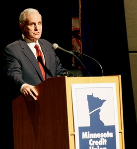 MInnesota Gov. Mark Dayton at Credit Union Day in St. Paul on Tuesday.