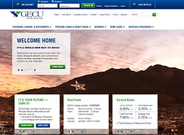 Local scenery is a highlight of the new and improved GECU website, the credit union says.