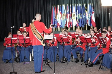 The U.S. Marine Corps Band entertains GAC attendees as they wait for the opening session to begin.