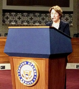 Sen. Amy Klobuchar (D-Minn.) addresses Minnesota credit union representatives during their visit last week at the GAC.