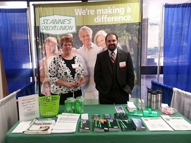 Nancy Wordell, South End (Fall River) branch manager, and Tim Souza, New Bedford office mortgage originator, at the Greater New Bedford Home Show.