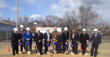 Breaking ground for new home and revitalization in a Roanoke neighborhood with help from Freedom First Credit Union.
