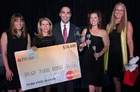 From left, Mollie Bell, chief engagement officer, Filene Research Institute; Jeanette Montross, vice president, U.S. Markets, Strategic Partnerships, MasterCard; Robert Baron, director of marketing, Technicolor FCU; Samantha Paxson, vice president of marketing, CO-OP Financial Services; and Kathy Herziger-Snider, CO-OP's vice president of product development.