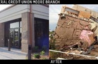 Here are before and after shots of the Tinker FCU branch in Moore, Okla.