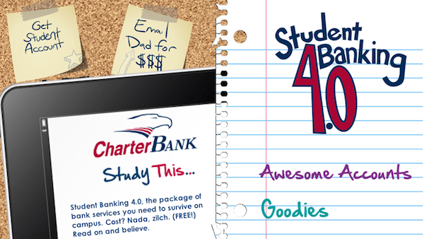 charter bank student banking