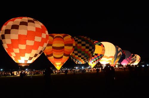 Albuquerque Balloon Fiesta glow
