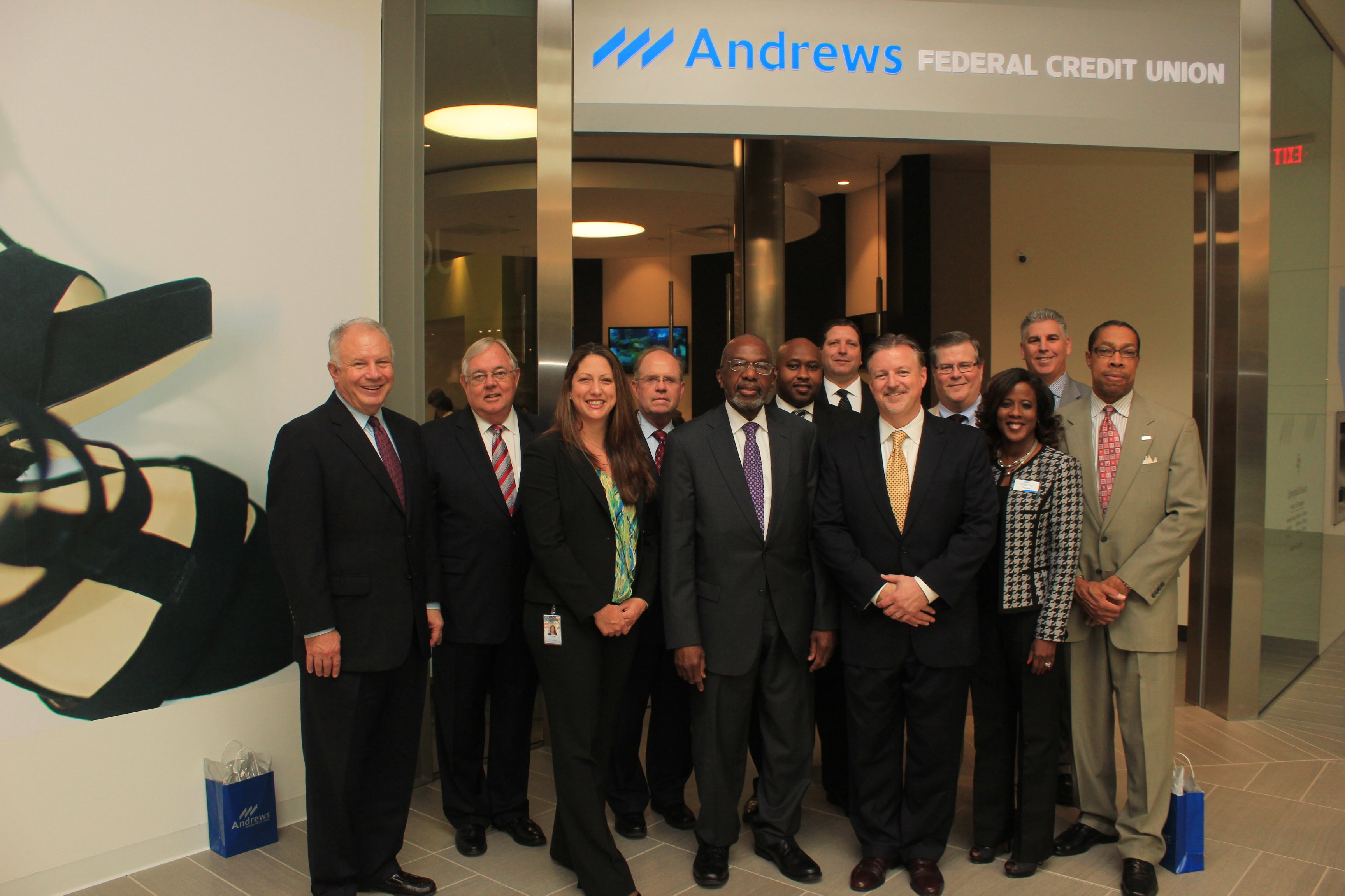 andrews federal credit union staff high tech branch