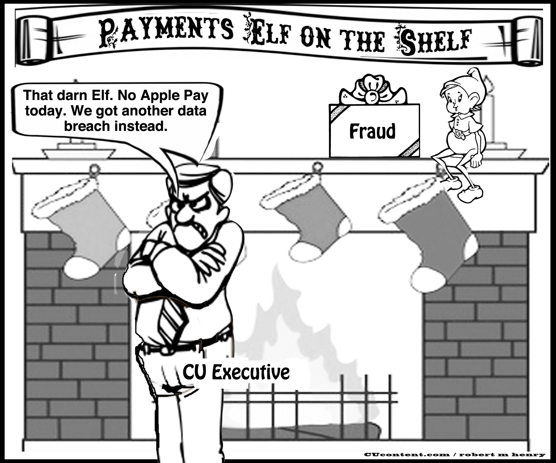 elf on the shelf payments editorial cartoon