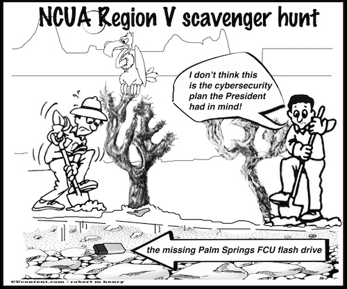 editorial cartoon NCUA Region V scavenger hunt