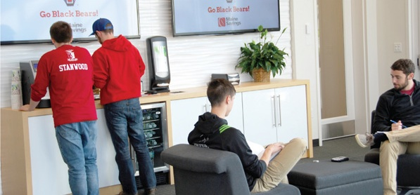 maine savings UMaine millennial branch lounge