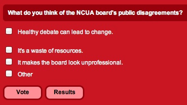 NCUA public disagreements poll