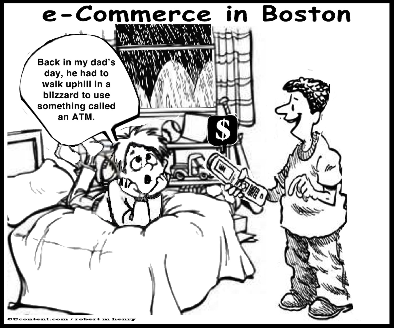 e-commerce, boston, snow days